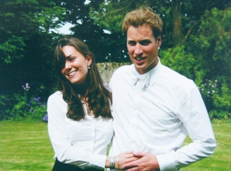 Уилям и Кейт през 2002 г.