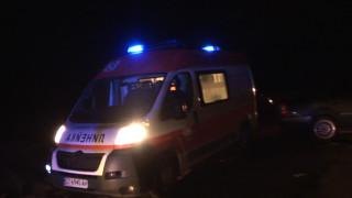Работник почина при ремонта на пътя Червена вода-Кубрат