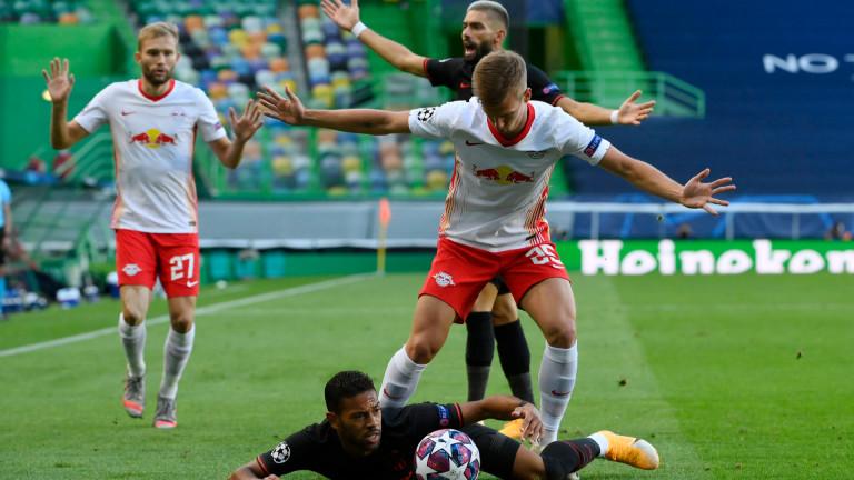 Снимка: РБ  - Атлетико  1:0, гол на Олмо