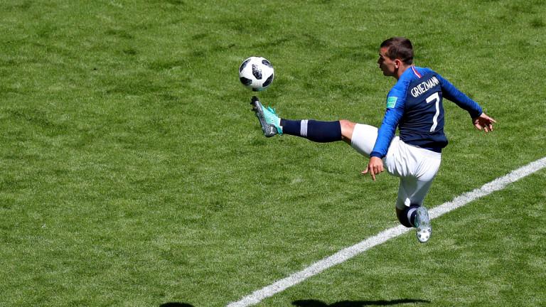 Нападателят на националния отбор на Франция Антоан Гризман е получил