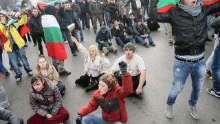 "Около 70 души уважиха протеста срещу кабинета ""Орешарски"""