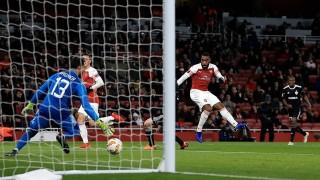 Арсенал се спести срещу Карабах, Лаказет с победен гол за лондончани