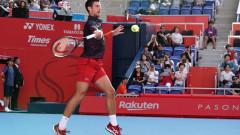 Новак Джокович беше леко затруднен от Го Соеда на ATP 500 в Токио