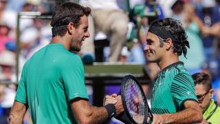 Роджър Федерер се справи с лекота с Дел Потро