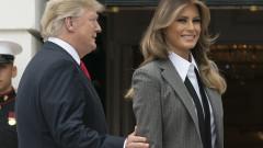 """Мелания """"натикала"""" Тръмп в Белия дом"""