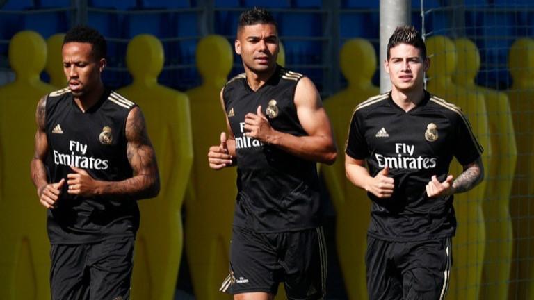 Халфът на Реал (Мадрид) Хамес Родригес взе участие в днешната