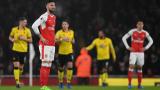 Арсенал загуби с 1:2 градското дерби срещу Уотфорд