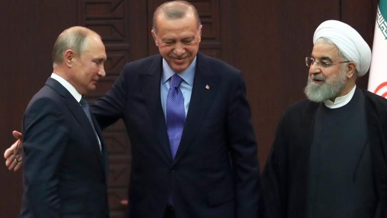 Русия, Турция и Иран са обезпокоени от засиленото присъствие на
