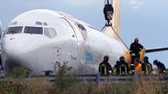 На летището в Бергамо самолет излезе от пистата и се озова на шосе