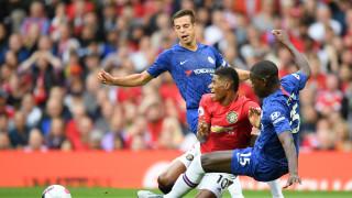 Манчестър Юнайтед - Челси 4:0 (Развой на срещата по минути)