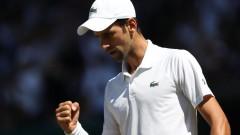 """Джокович загуби първи сет на """"Уимбълдън"""", но за 12-ти път е осминафиналист в турнира"""