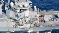 Американски разрушител се сблъска с контейнеровоз край Япония