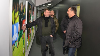Павел Върба разгледа базата и стадиона на Лудогорец