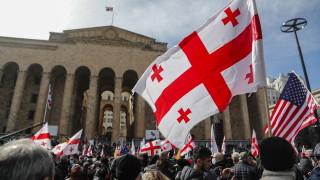 Хиляди участват в протест в Грузия след ареста на лидера на опозицията