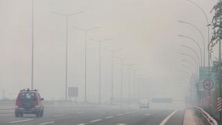 В Гърция ограничиха движението по пътищата заради пожарите