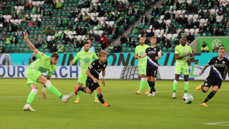 Волфсбург с първа победа в Бундеслигата