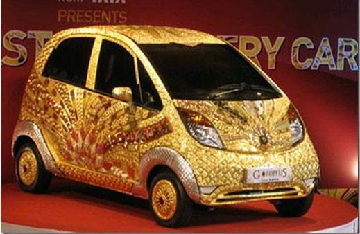 Направиха кола от злато