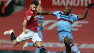 Автогол върна Манчестър Юнайтед на втората позиция в Англия