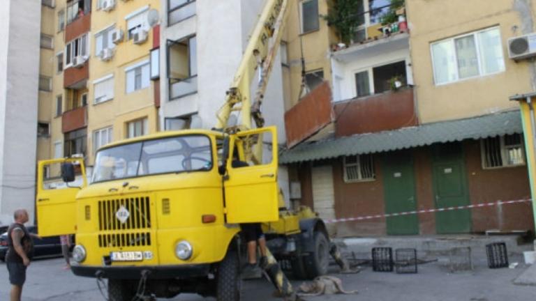 И в Добрич имало паднал панел от тераса без пострадали