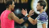 Рафаел Надал призна, че е подкрепял Доминик Тийм срещу Новак Джокович