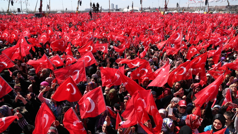 Близо 1,6 млн. избиратели събра турският президент Реджеп Тайип Ердоган
