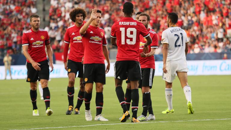Манчестър Юнайтед разгроми ЛА Галакси с 5:2 в приятелски мач,