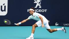 Роджър Федерер на два мача от титлата в Маями