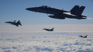 В Прибалтика започнаха въздушните учения на НАТО Ramstein Alloy 6