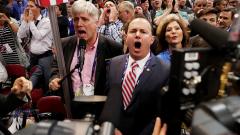 Противници на Тръмп създадоха суматоха на конвента на републиканците