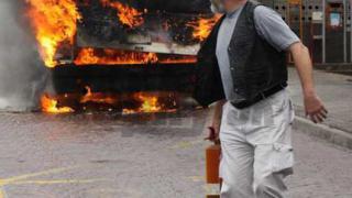 Запали се автобус на градския транспорт в Братислава