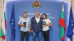 Министър Кралев награди европейската вицешампионка в тройния скок Александра Начева