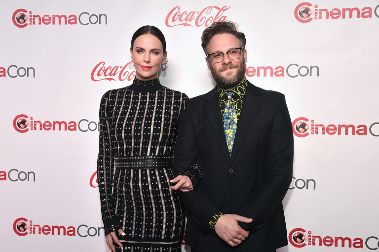 Със Сет Роугън на CinemaCon