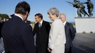 Мей, Тръмп и Макрон участват на събития в Нормандия по повод 75 г. от десанта