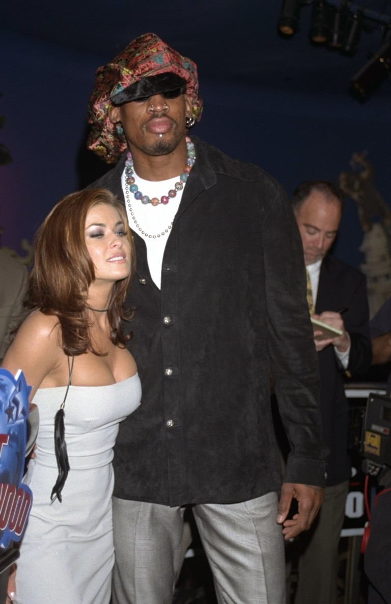 Денис Родман и Кармен Електра през 1999 г.