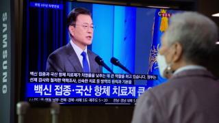 Президентът на Южна Корея настоява за действия за Северна Корея преди срещата си с Байдън