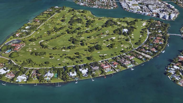 Индиан Крийк Вилидж е малък частен остров до Маями, където