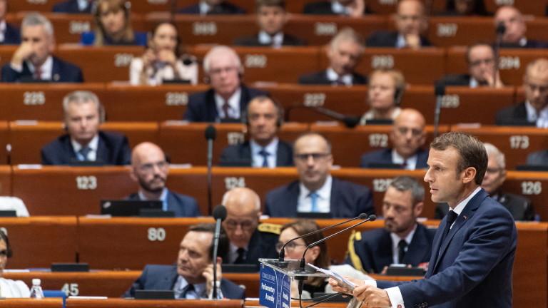 Президентът на Франция Еманюел Макронподкрепичленствотона Русия в Съвета на Европа
