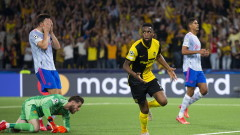 Йънг Бойс победи Манчестър Юнайтед с 2:1 в Шампионската лига