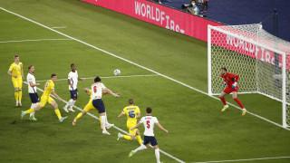 Украйна - Англия 0:4 (Развой на срещата по минути)