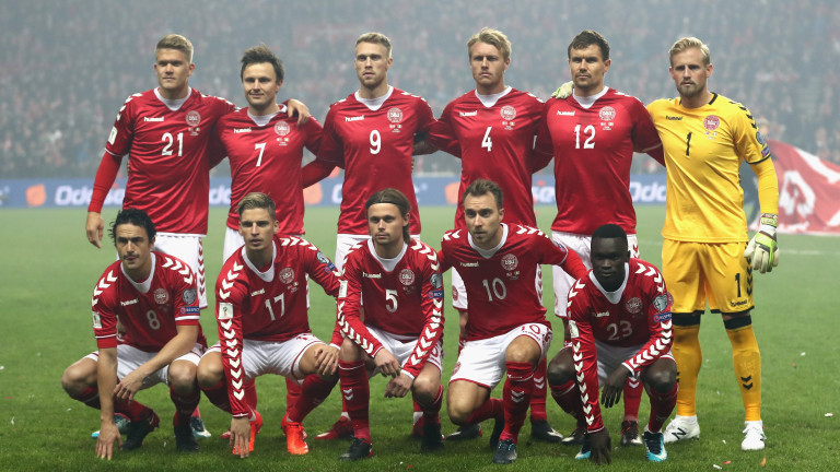 Отборът на Дания също вече е в Русия