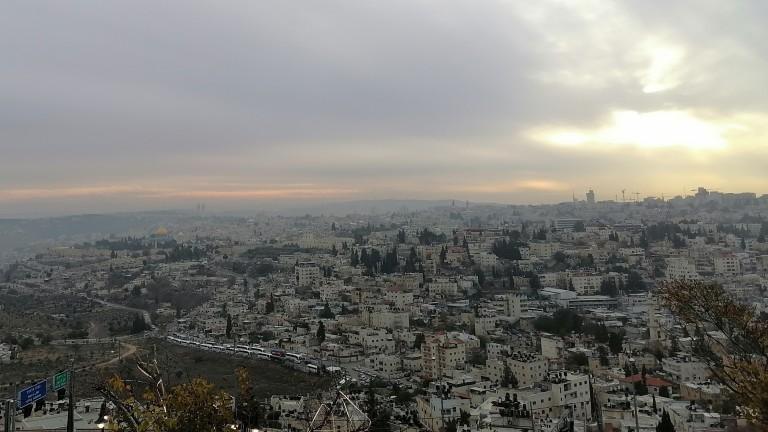 Панорама на Йерусалим, заснета с Honor 9X