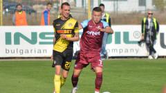 Данчо Минев ще играе като централен защитник срещу ЦСКА