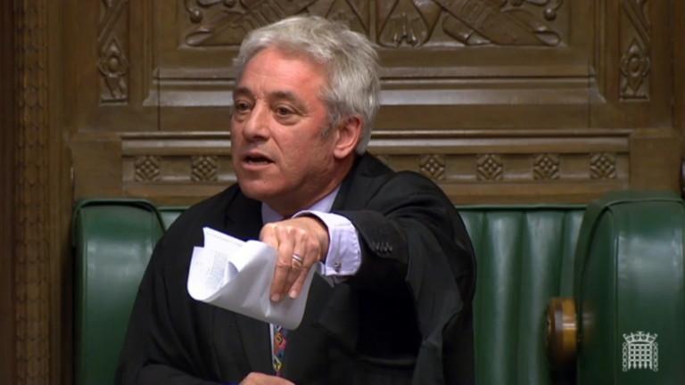 Председателят на Камарата на общините (долната камара на британския парламент)