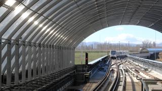 """Укрепват свлачище близо до метрото в квартал """"Дружба"""""""