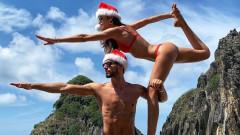 Секси Коледата на Изабел Гулар и Кевин Трап