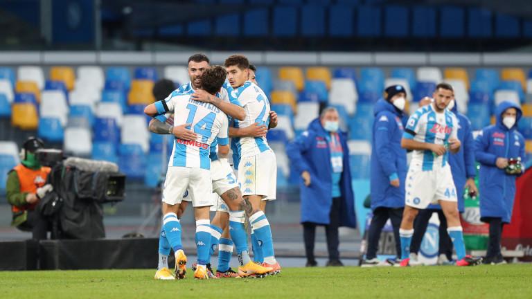 """Наполи обърна Сампдория за трета поредна победа в Серия """"А"""""""