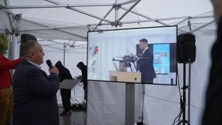 A1 показа приложение на 5G за управление на дрон