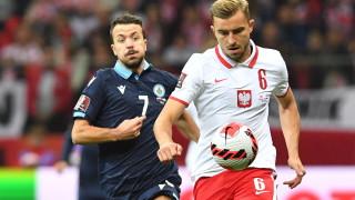 """Полша вкара """"само"""" пет гола на футболното джудже Сан Марино"""