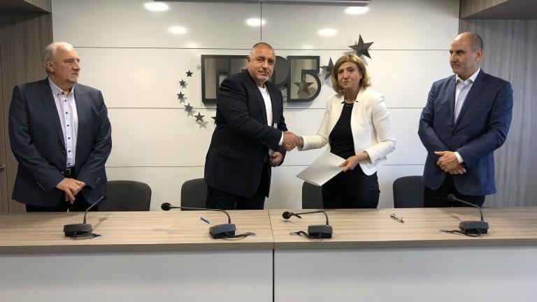 Споразумение за политическо партньорство подписаха днес председателят на ГЕРБ Бойко
