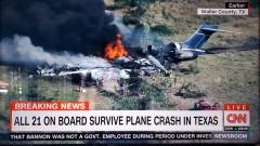 Пътници оцеляха в самолетна катастрофа в Тексас